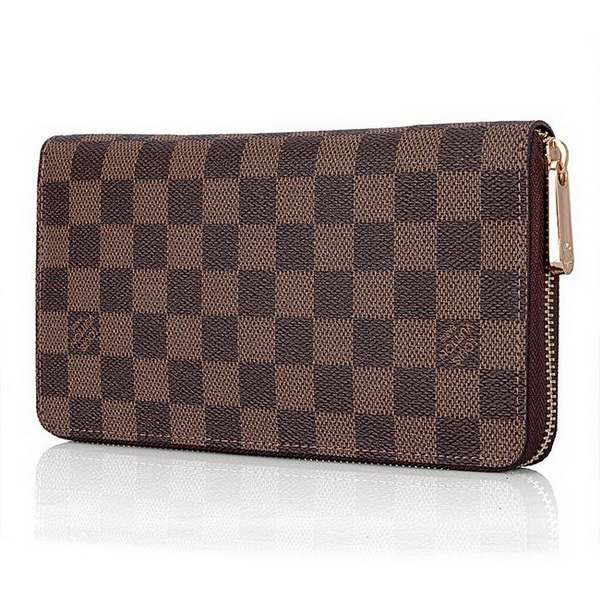 Louis Vuitton Damier Ebene Canvas Zippy Wallet N60015