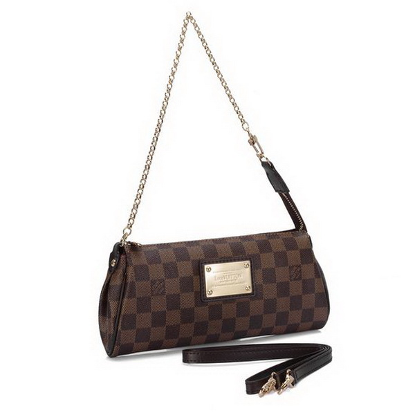 Hot Style Louis Vuitton Damier Ebene Canvas EVA Clutch N55213