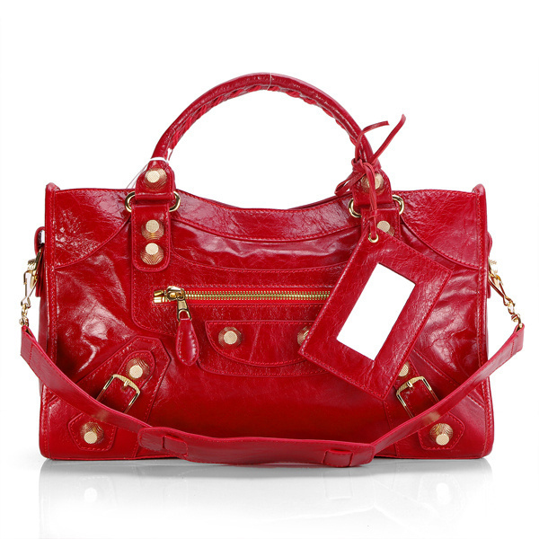 Balenciaga Giant City Bag Crimson