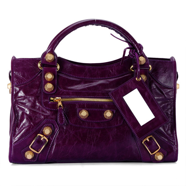 Balenciaga Giant City Bags In Purple