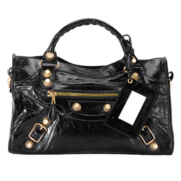 Balenciaga Giant City Handbag Black