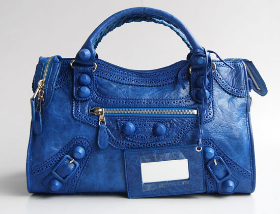 Balenciaga Giant City Handbag Blue