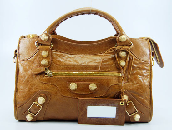 Balenciaga Giant City Handbag Brown