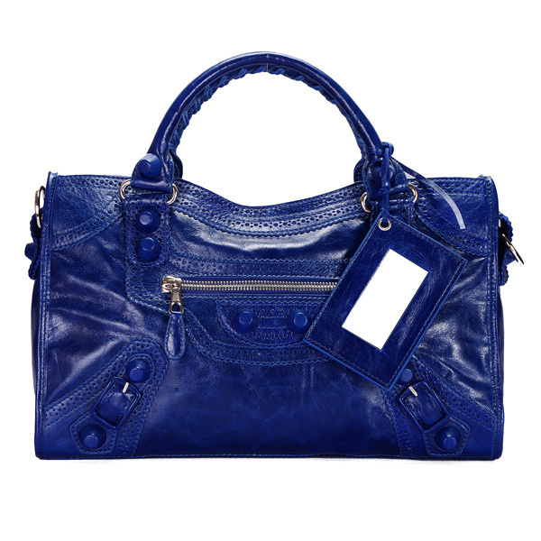 Balenciaga Giant City Handbag Darkblue