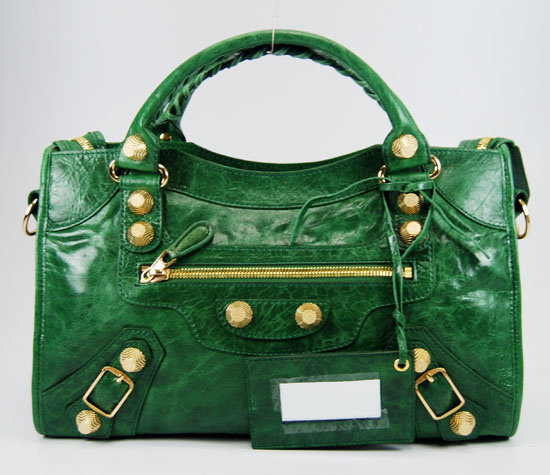 Balenciaga Giant City Handbag Darkgreen