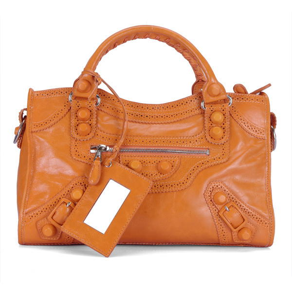 Balenciaga Giant City Handbag Orange