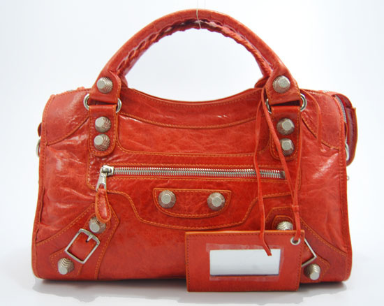 Balenciaga Giant City Handbag Orangered