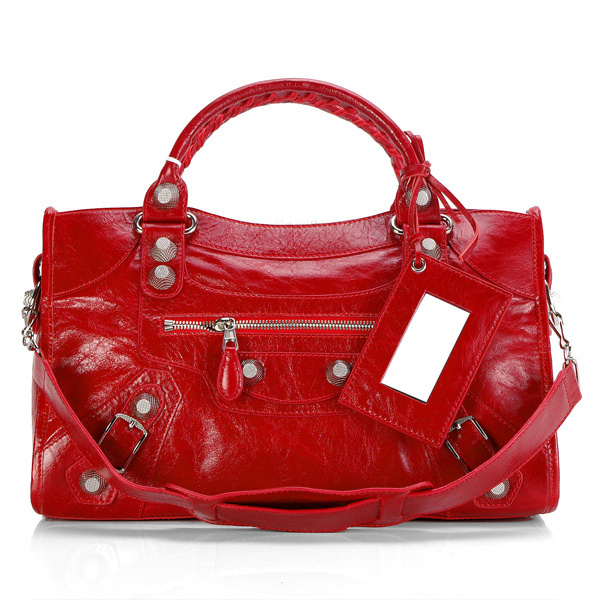 Balenciaga Giant City Handbag Red
