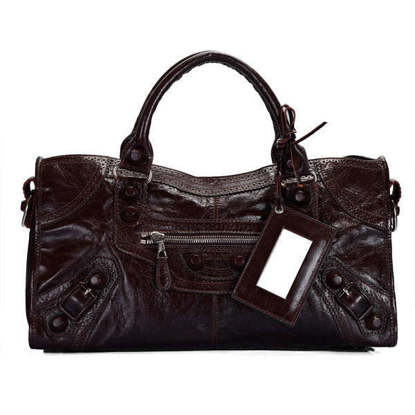 Balenciaga Giant Part Time Bag Dark Coffee