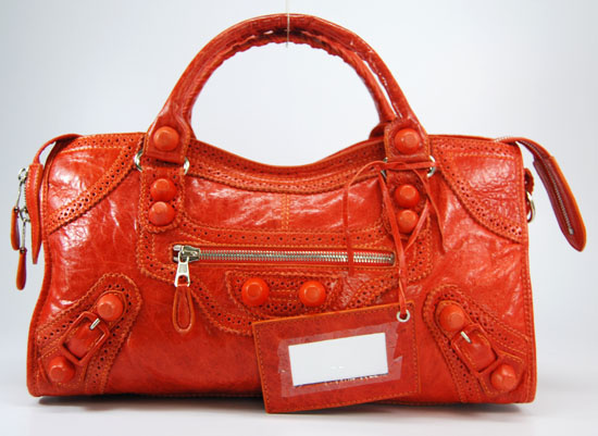 Balenciaga Giant Part Time Bag In Orange