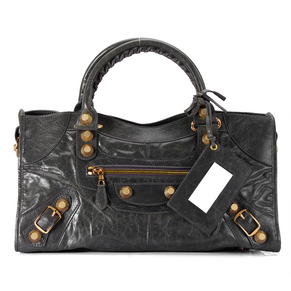 Balenciaga Giant Part Time Black Bag Gold Plated
