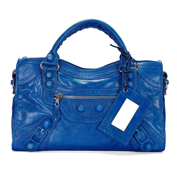 Balenciaga Giant Part Time Handbag Blue