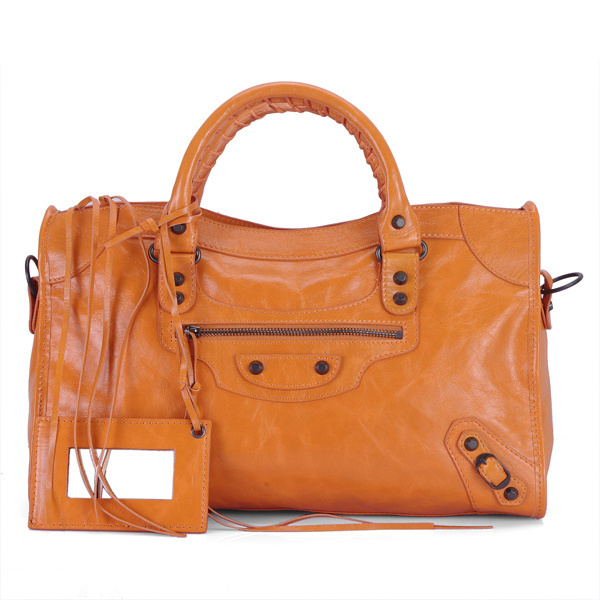 Balenciaga Work Handbag Darkorangeest