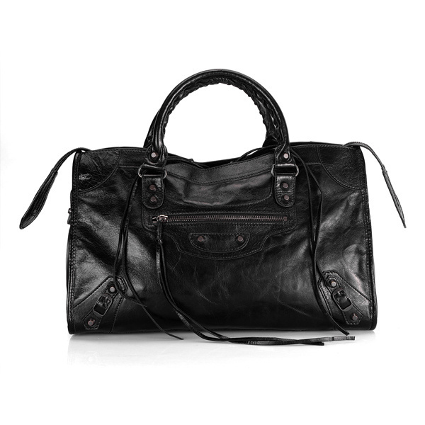 Balenciaga Work Handbag In Black