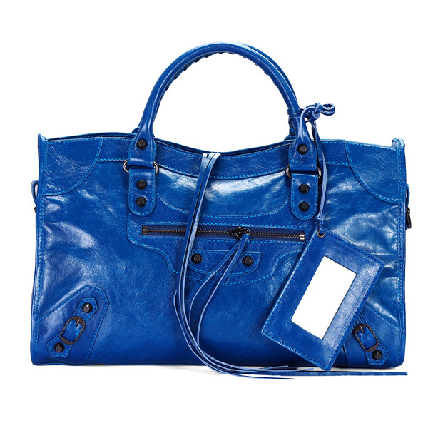 Balenciaga Work Handbag Navy