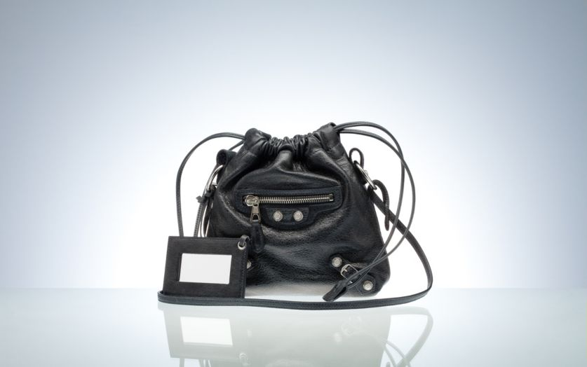 Balenciaga Drawstring Handbags Anthracite
