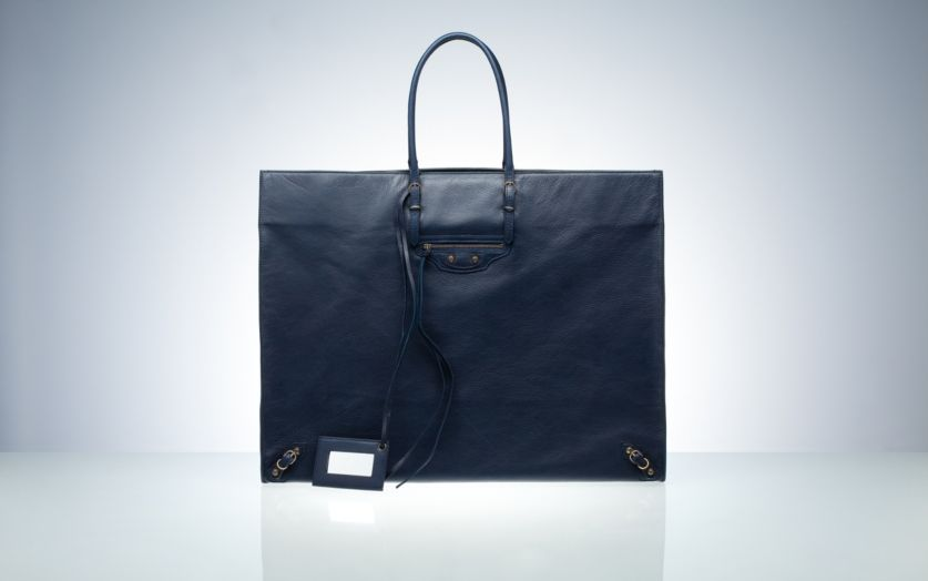 Balenciaga Tote Handbags Blue