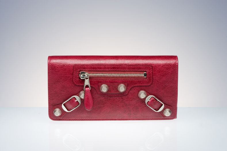 Balenciaga Wallet Pomegranate