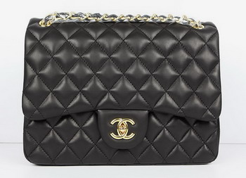Chanel Jumbo Lambskin Quilted Flap Bag A58600 Black