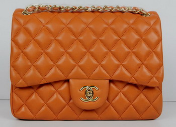 Chanel Jumbo Quilted Flap Bag A58600 Orange