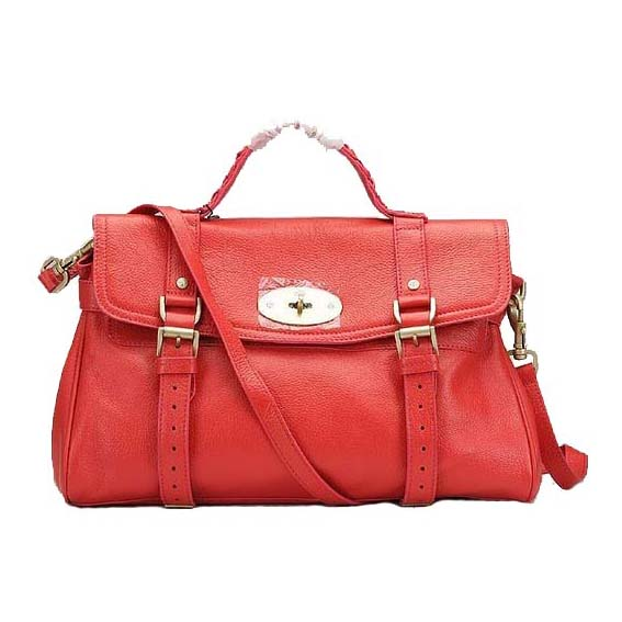 Mulberry Alexa Bag Natural Leather Red