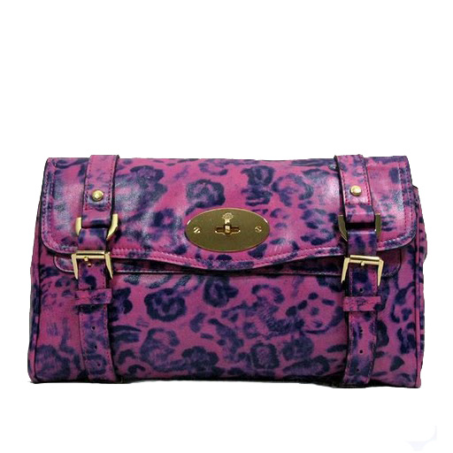 Mulberry Alexa Clutch Bag Soft Leather Peony Leopard