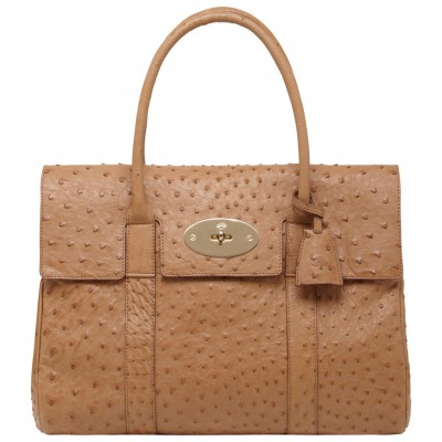 Mulberry Bayswater HandBag Ostrich Leather Oak