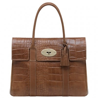 Mulberry Bayswater HandBag Printed Leather Oak