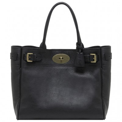 Mulberry Bayswater Tote Bag Natural Leather Black