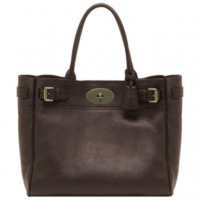 Mulberry Bayswater Tote Bag Natural Leather Chocolate