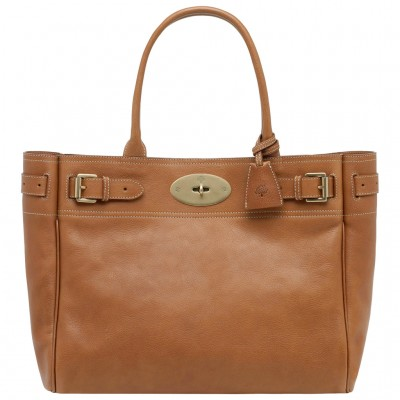 Mulberry Bayswater Tote Bag Natural Leather Oak