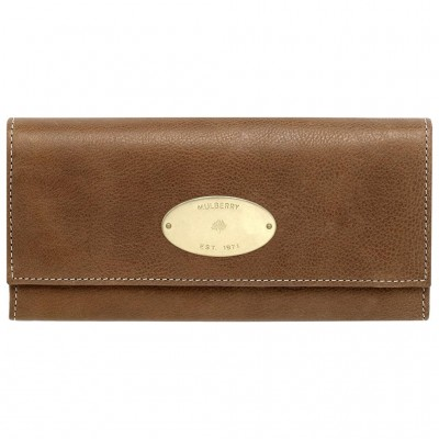 Mulberry Continental Wallets Natural Leather Oak
