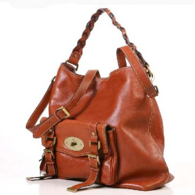 Mulberry Hobo Satchel Bag Natural Leather Oak