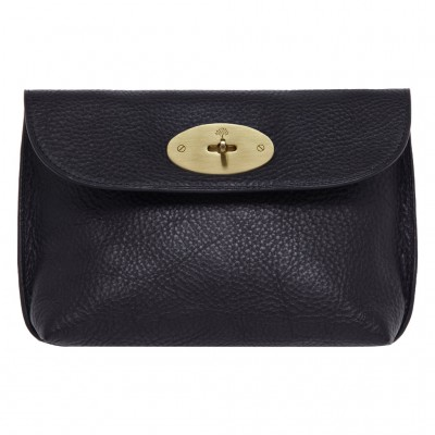 Mulberry Locked Cosmetic Purses Natural Leather Black