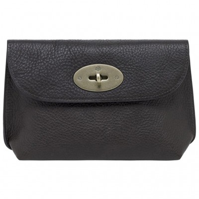Mulberry Locked Cosmetic Purses Natural Leather Chocolate