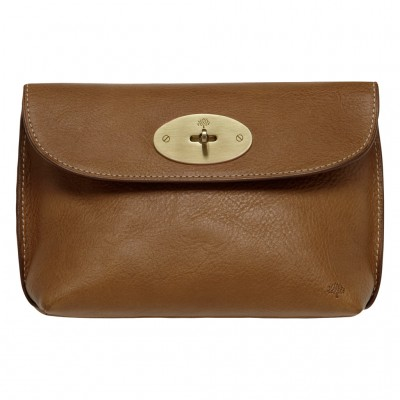 Mulberry Locked Cosmetic Purses Natural Leather Oak