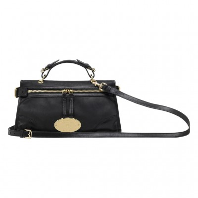 Mulberry Mini Taylor Satchel Bag Smooth Leather Black
