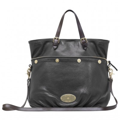 Mulberry Mitzy Tote Bag Pebbled Leather Black