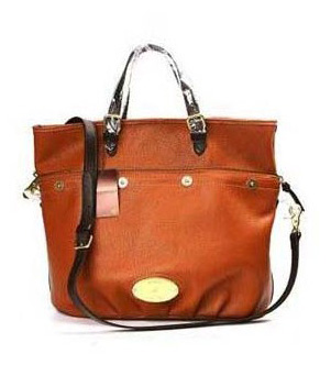 Mulberry Mitzy Tote Bag Pebbled Leather Brown