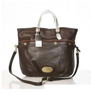Mulberry Mitzy Tote Bag Pebbled Leather Chocolate