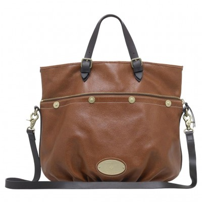Mulberry Mitzy Tote Bag Pebbled Leather Oak