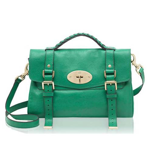 Mulberry Alexa Bag Soft Buffalo Leather Bright Cabbage