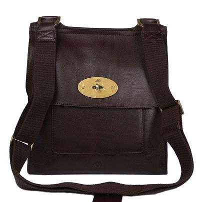 Mulberry Anothy Messenger Bag Pebbled Leather Chocolate
