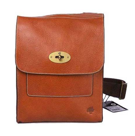 Mulberry Anothy Messenger Bag Pebbled Leather Oak