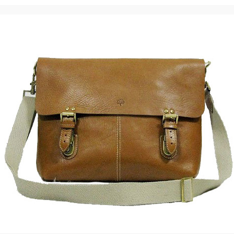 Mulberry Barnaby Messenger Bag Natural Leather Oak