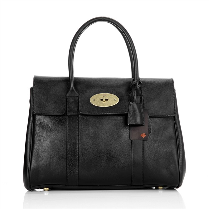 Mulberry Bayswater HandBag Natural Leather Black
