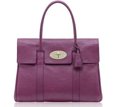 Mulberry Bayswater HandBag Soft Leather Purple