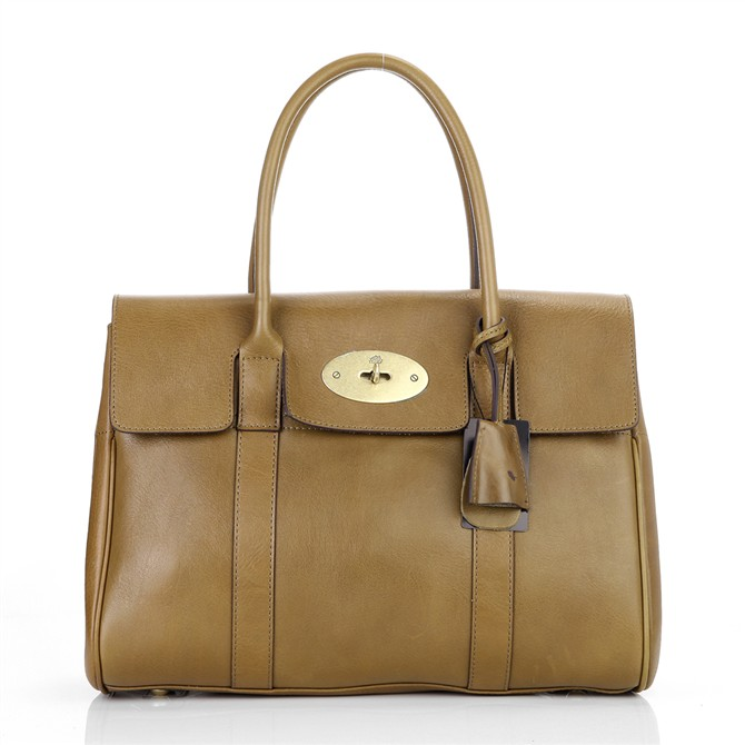 Mulberry Bayswater HandBag Natural Leather Brown