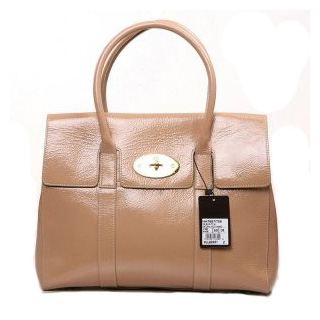 Mulberry Bayswater HandBag Patent Leather Apricot