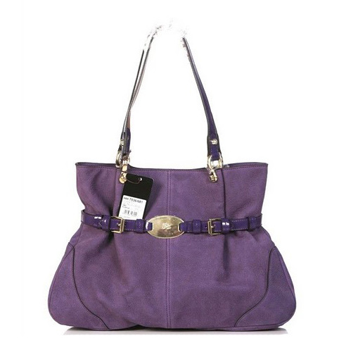 Mulberry Beatrice Antony Tote Bag Soft Spongy Leather Purple